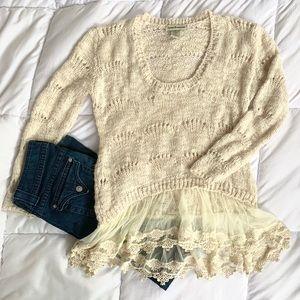 Cotton Emporium Sweater Lace Bottom